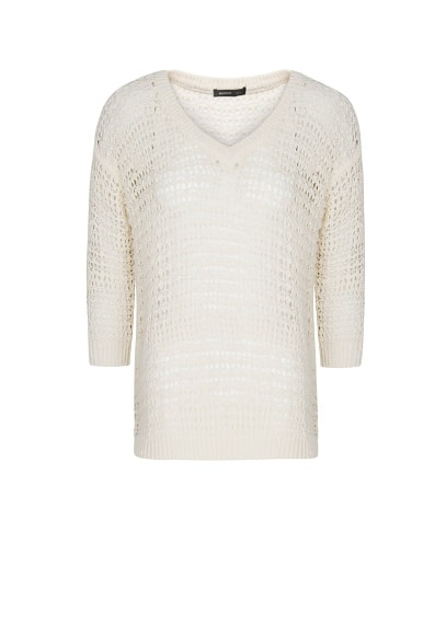 Open knit cotton jumper