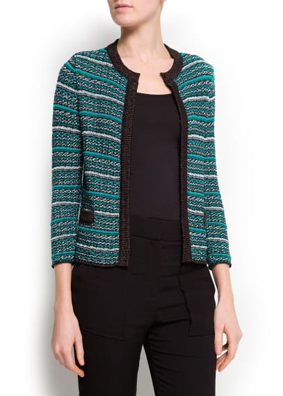 Boucl knit cardigan