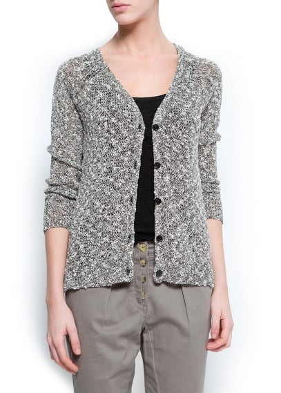 Irregular knit cardigan