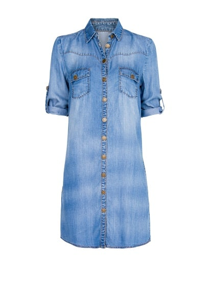 Blusón denim camisero