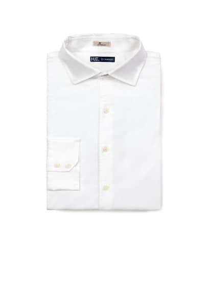 Straight-fit oxford shirt