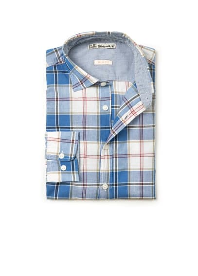 Check slim-fit shirt
