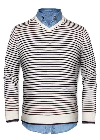STRIPED KNIT JUMPER