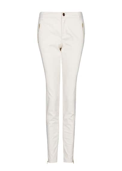 Zippers cropped trousers