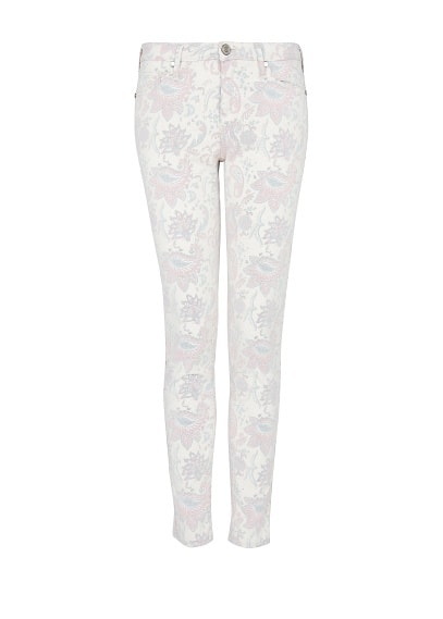 Printed super slim-fit jeans