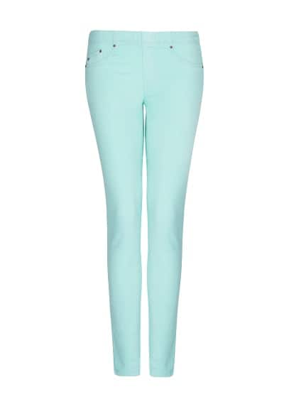 Elastic waist denim jeggings