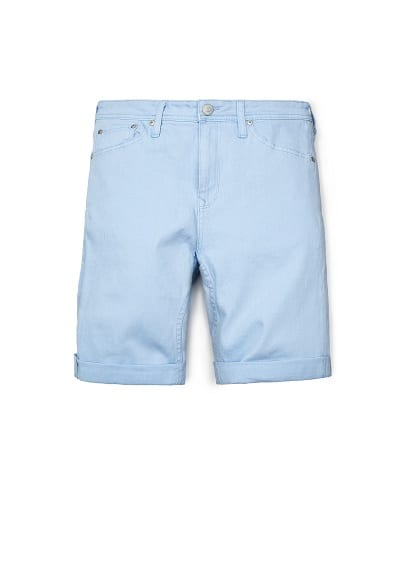 LIGHT BLUE DENIM BERMUDA SHORTS