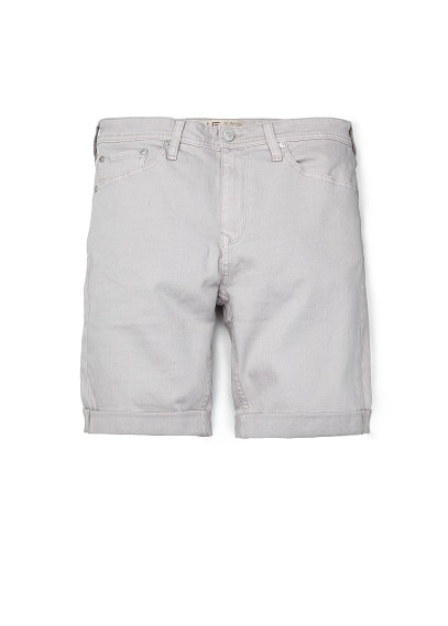GREY DENIM BERMUDA SHORTS