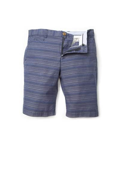 Multicolored stripes bermuda shorts