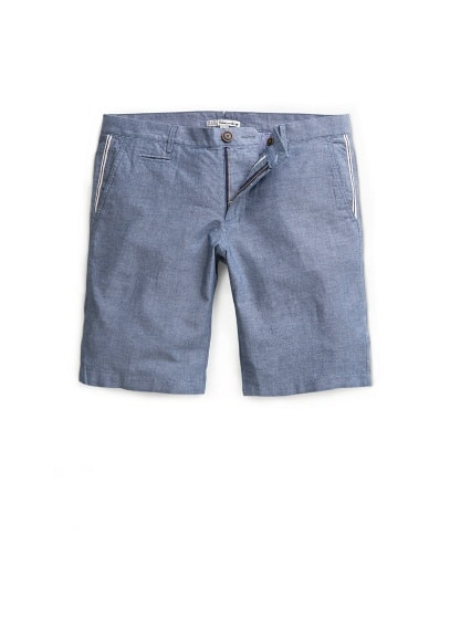 COTTON CHAMBRAY BERMUDA SHORTS