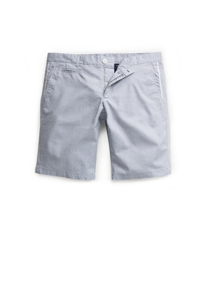 MICRO CHECK-PATTERNED BERMUDA SHORTS