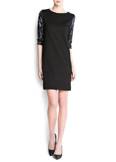 Sequin sleeves dress