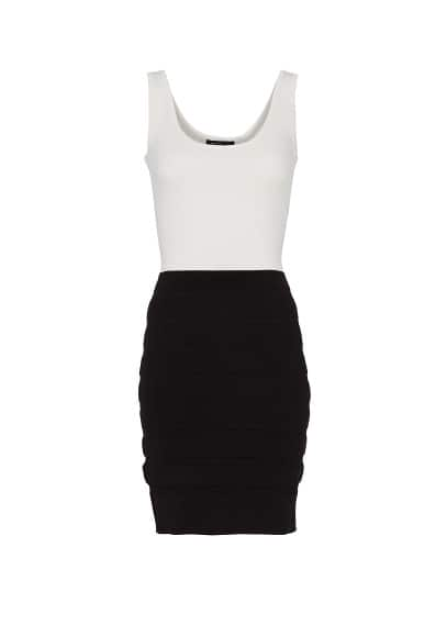 Two-tone knit dress
