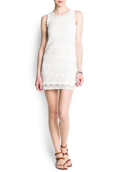 Cotton crochet dress