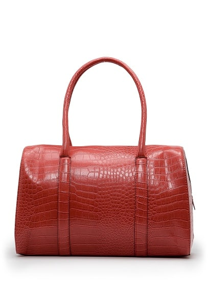 Special Prices Faux croc bowling bag