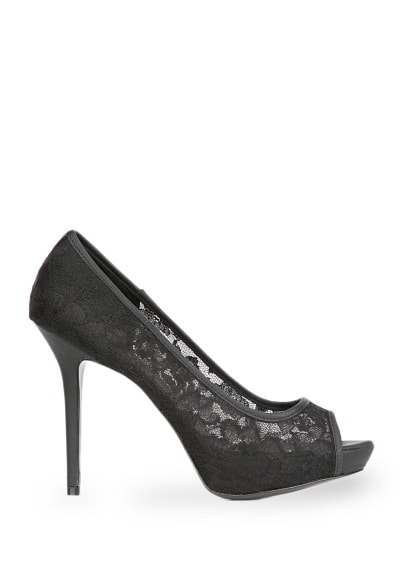Lace peep-toe heel Shoes