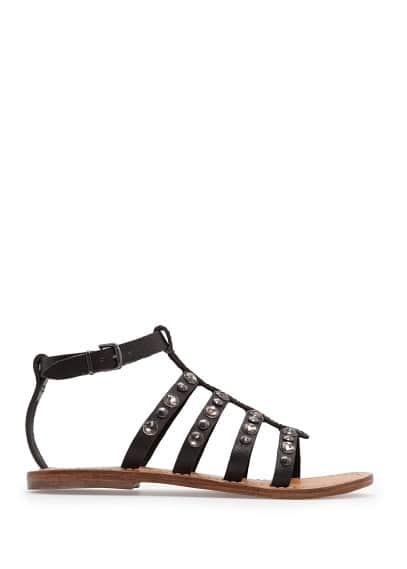 Crystal embellished gladiator sandals