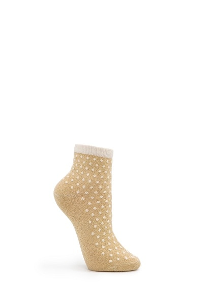 Polka-dots lurex socks