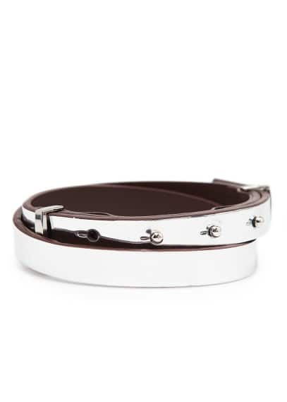 Metallic slim belt