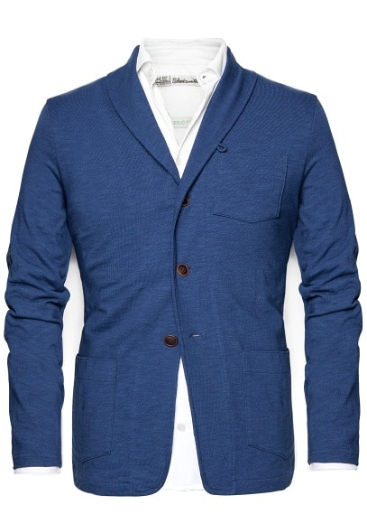 Cotton shawl-collar jacket