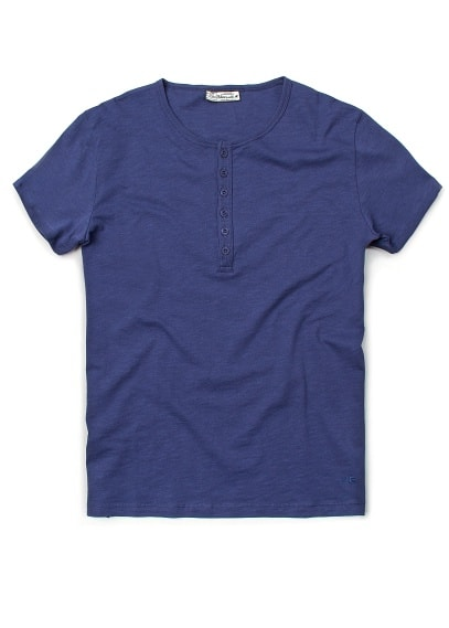 DEVORÉ COTTON HENLEY T-SHIRT