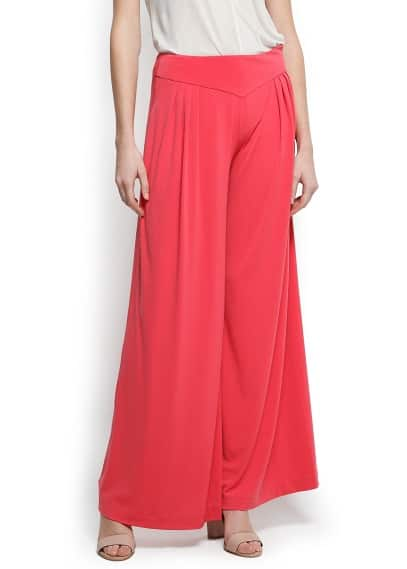 Pleats wide trousers
