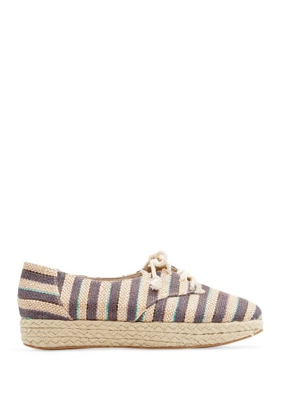 Striped espadrille shoes