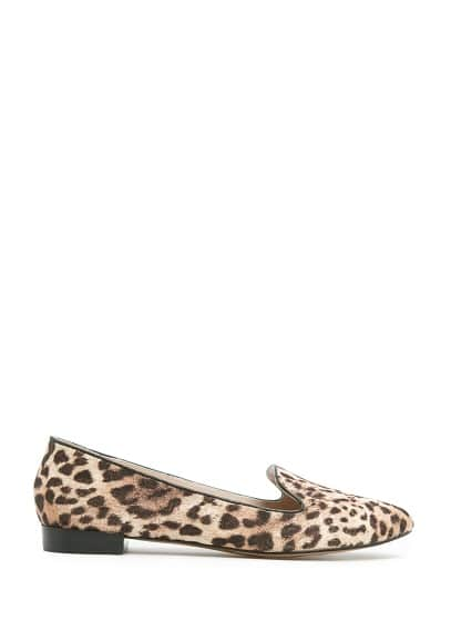 Lurex leopard slippers