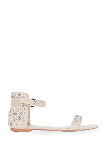 CRYSTALS AND STUDS SANDALS