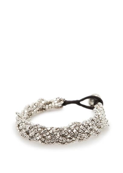 TOUCH - Metallic braided bracelet