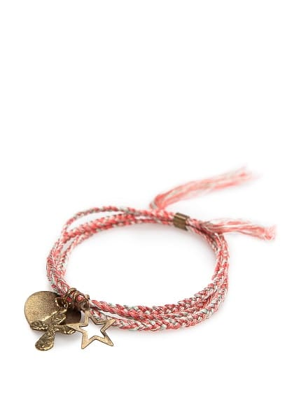 Charms braided bracelet