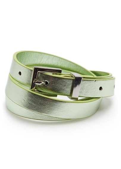 Slim metallic belt