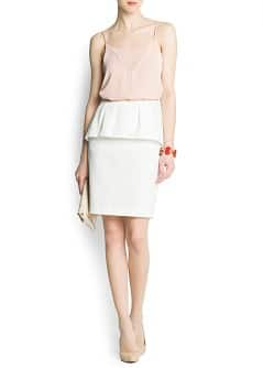 Jacquard peplum pencil skirt