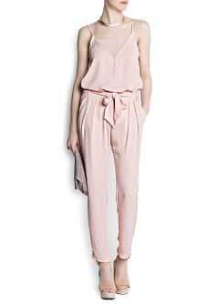 Bow crepé trousers