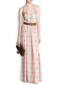 Long belt dress