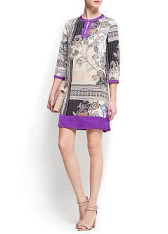 Printed tunic style dress