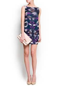 Printed draped dress