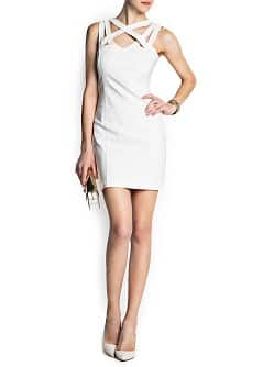 Cross strap bodycon dress