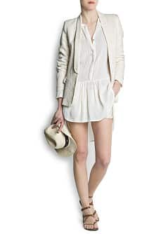 Pin-tuck shirt dress