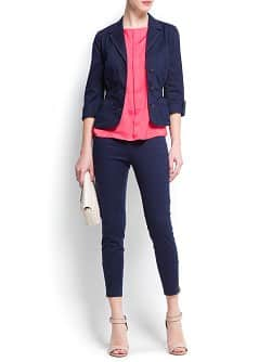Gathered waist blazer
