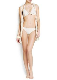 Lurex striped bikini bottom