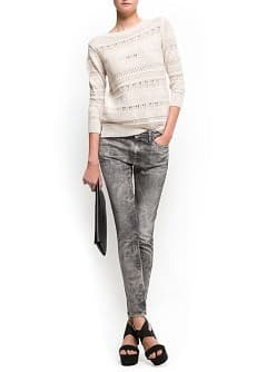 Acid wash super slim jeans