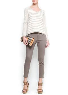 Pantalon slim zippé