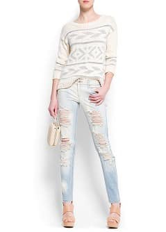 Distressed super slim jeans