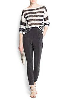 Striped mix jumper
