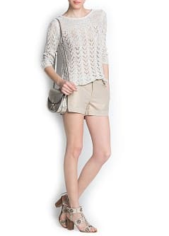 Linen lurex-blend knit jumper