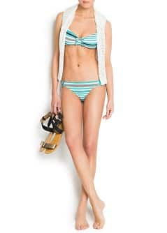 TOUCH - Ruffled detail stripes bikini by Guillermina Baeza