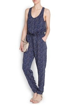 Zigzag print long jumpsuit