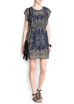 Chiffon paisley print dress