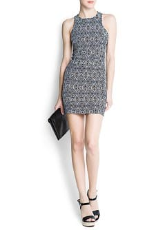 Bouclé mosaic dress